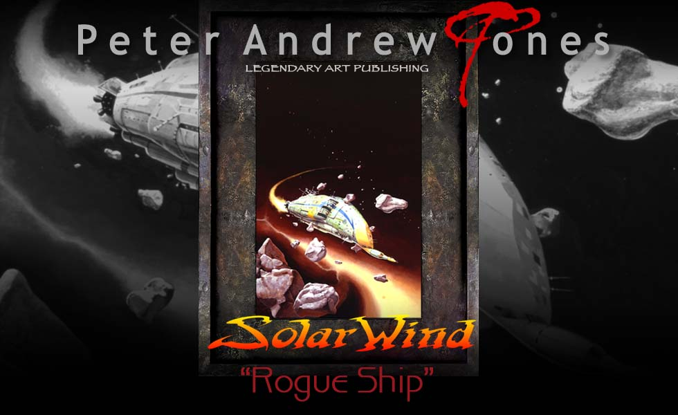 Solar Wind Oil Painting and Limited Edition Print Rogue Ship